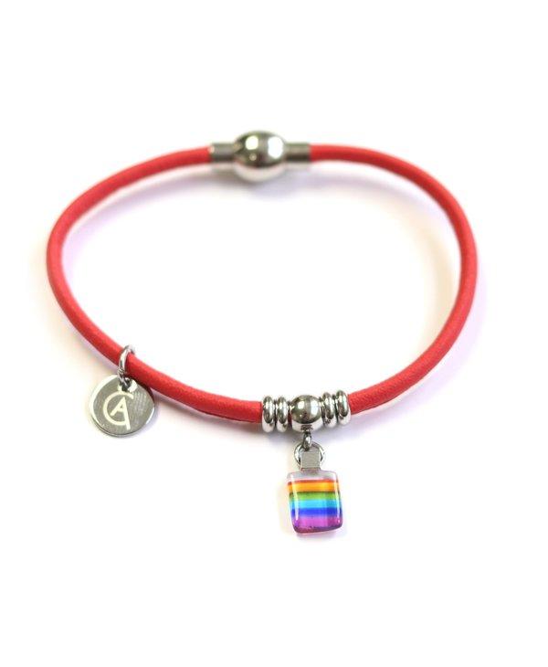 Bracelet Classique « Ça va bien aller » corail de Créart