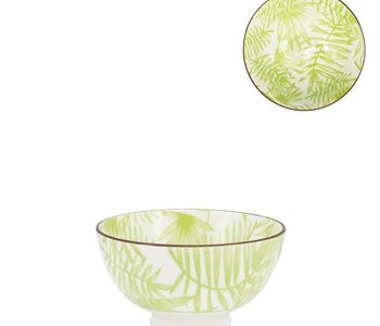 Bol en porcelaine Kiri 4.5 Palm Leaf
