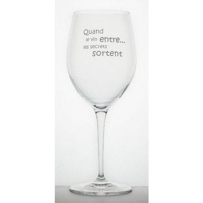 Garçon de Table Verre à vin Garçon de Table Quand le vin entre ...