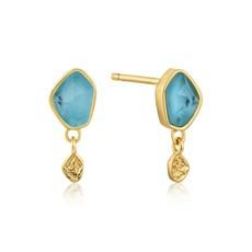 Ania Haie Boucles d'oreilles Ania Haie Turquoise Drop Gold Stud