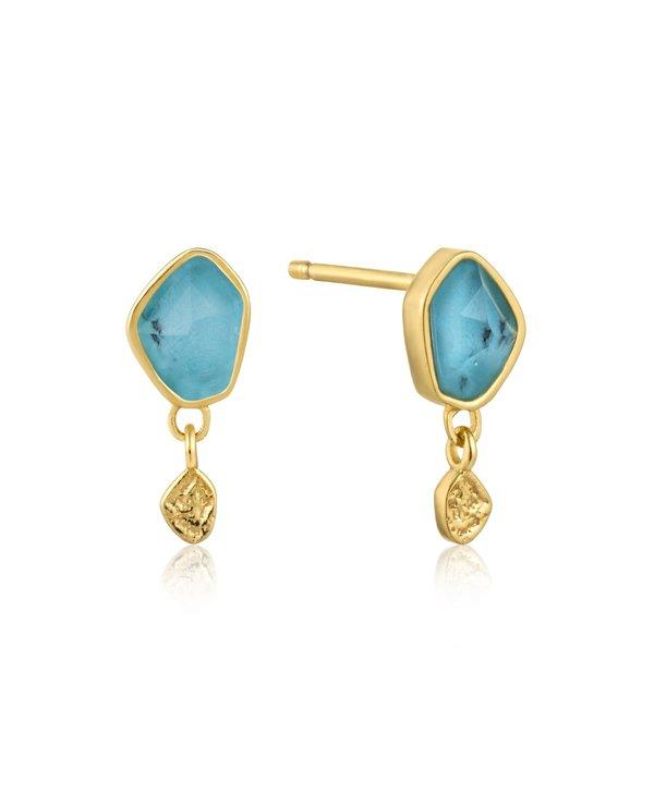 Boucles d'oreilles Ania Haie Turquoise Drop Gold Stud