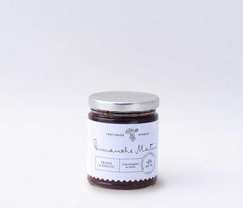 Tartinade fraise et basilic Dimanche matin