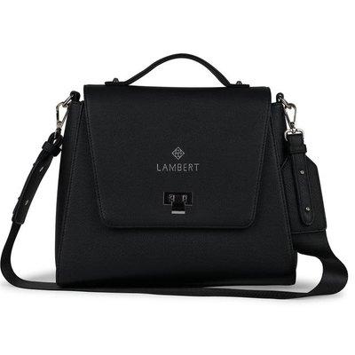 Lambert Nouveau sac Lambert en cuir vegan X Elie Duquet noir