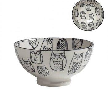 Bol de porcelaine kiri owl outline 6''