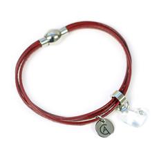 Cré-Art Bracelet Cré-Art Collection Juliette Cuir Rouge