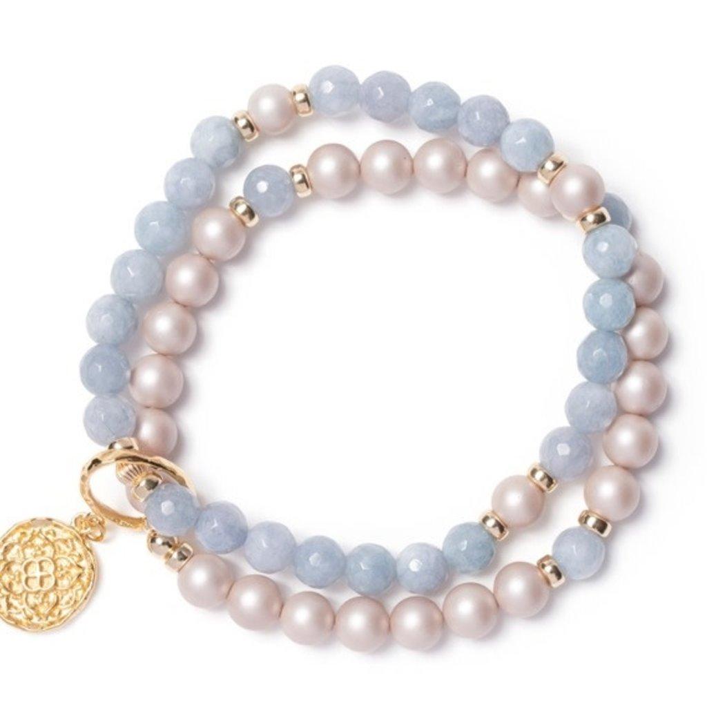 BeBlue Bracelet Beblue BE MAGNIFICENT SURYA bleu ciel BBSURMAGNIF -LB