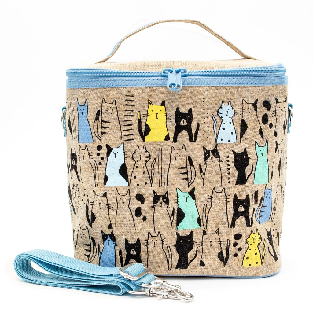 So Young Boite à lunch So Young CURIOUS CATS LARGE COOLER BAG