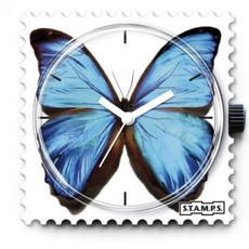 Montre Stamps Montre Stamps Blue Butterfly