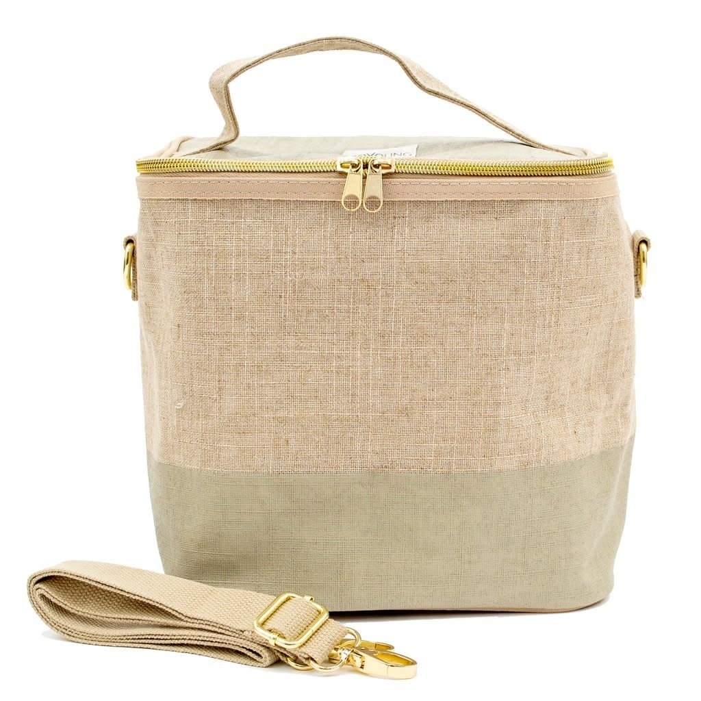 So Young Boite à lunch So Young LINEN - CEMENT COLOUR BLOCK LUNCH POCHE