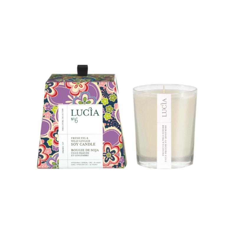 Lucia N°6 Bougie de soja Figue fraîche et gingembre20h  Lucia