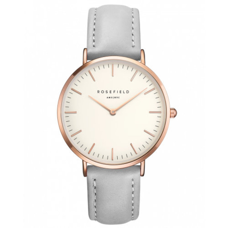 Rosefield Montre Rosefield T57 The Bowery Blanc-Gris