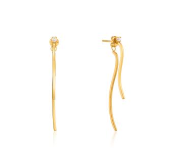 Boucles d'oreilles Ania Haie Gold Curve Drop Bar Ear Jackets