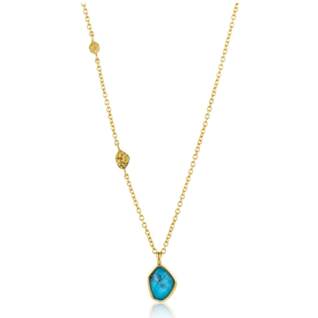 Ania Haie Collier Ania Haie Gold Turquoise Pendant