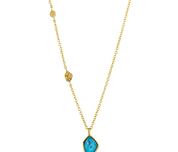 Collier Ania Haie Gold Turquoise Pendant