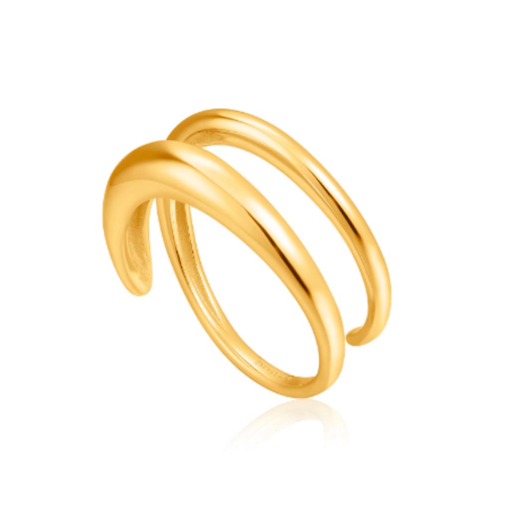 Ania Haie Bague Ania Haie Gold Luxe Twist Adjustable