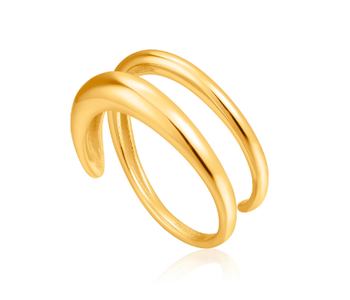 Bague Ania Haie Gold Luxe Twist Adjustable