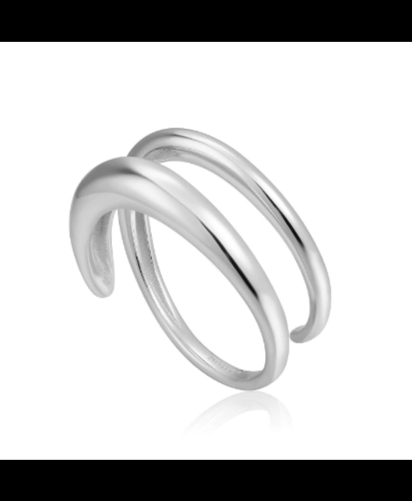 Bague Ania Haie Silver Luxe Twist Adjustable