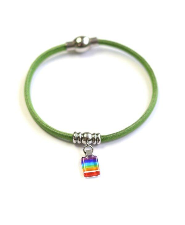 Bracelet Classique « Ça va bien aller »vert de Créart