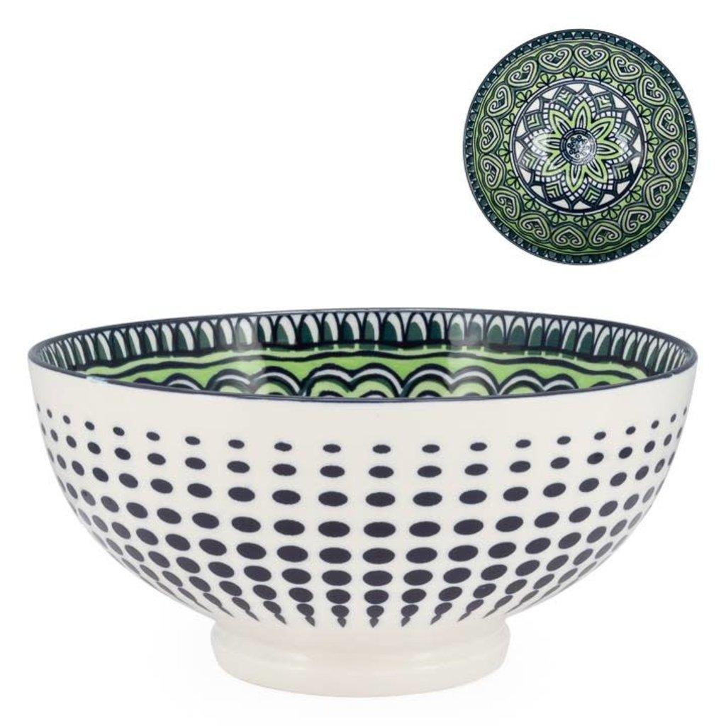 Torre & Tagus Bol Kiri en porcelaine 8 Green Mandala