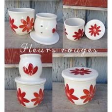 Weilbrenner & Lebeau Gros Beurrier Breton fleurs rouge de Weilbrenner et Lebeau