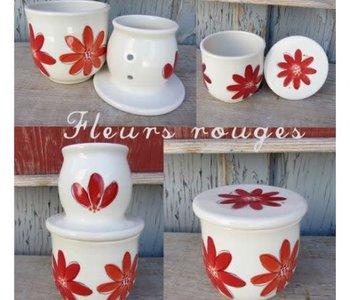 Gros Beurrier Breton fleurs rouge de Weilbrenner et Lebeau