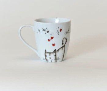 Tasse Ma Grand'Noire le café...j'aime chat !