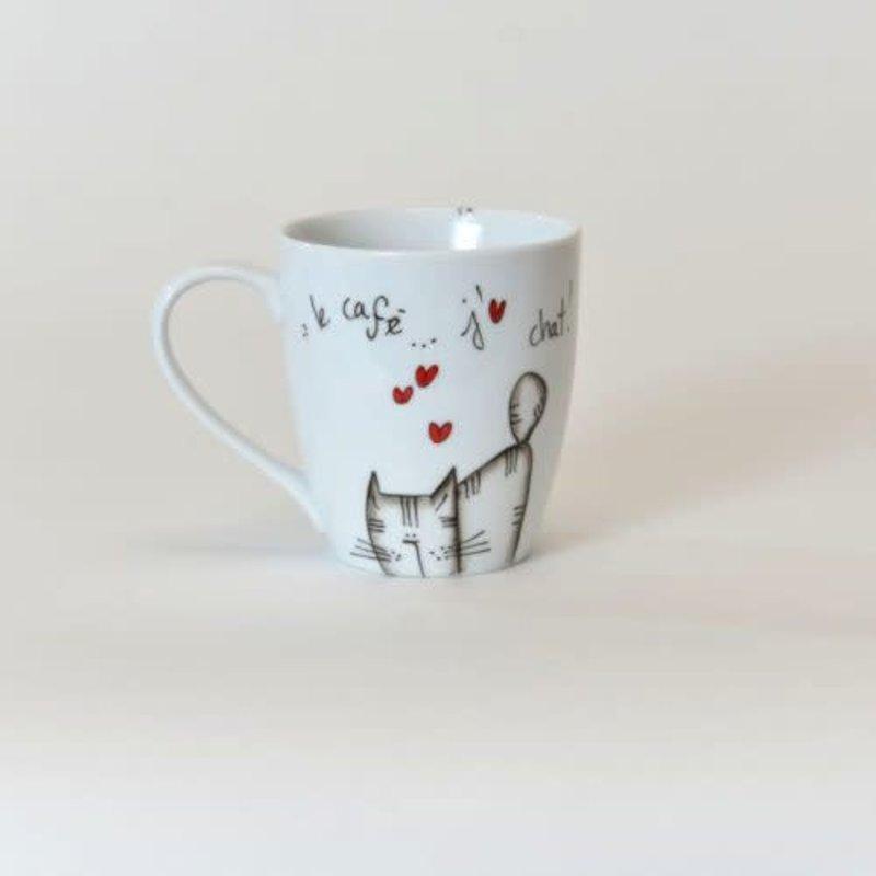 Ma Grand'Noire Tasse Ma Grand'Noire le café...j'aime chat !