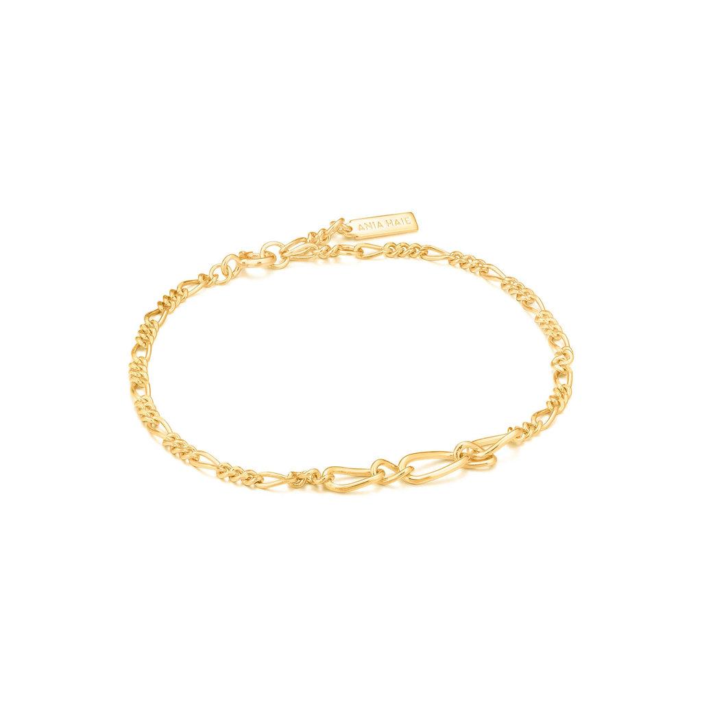 Ania Haie Bracelet Ania Haie Figaro Chain Bracelet Gold