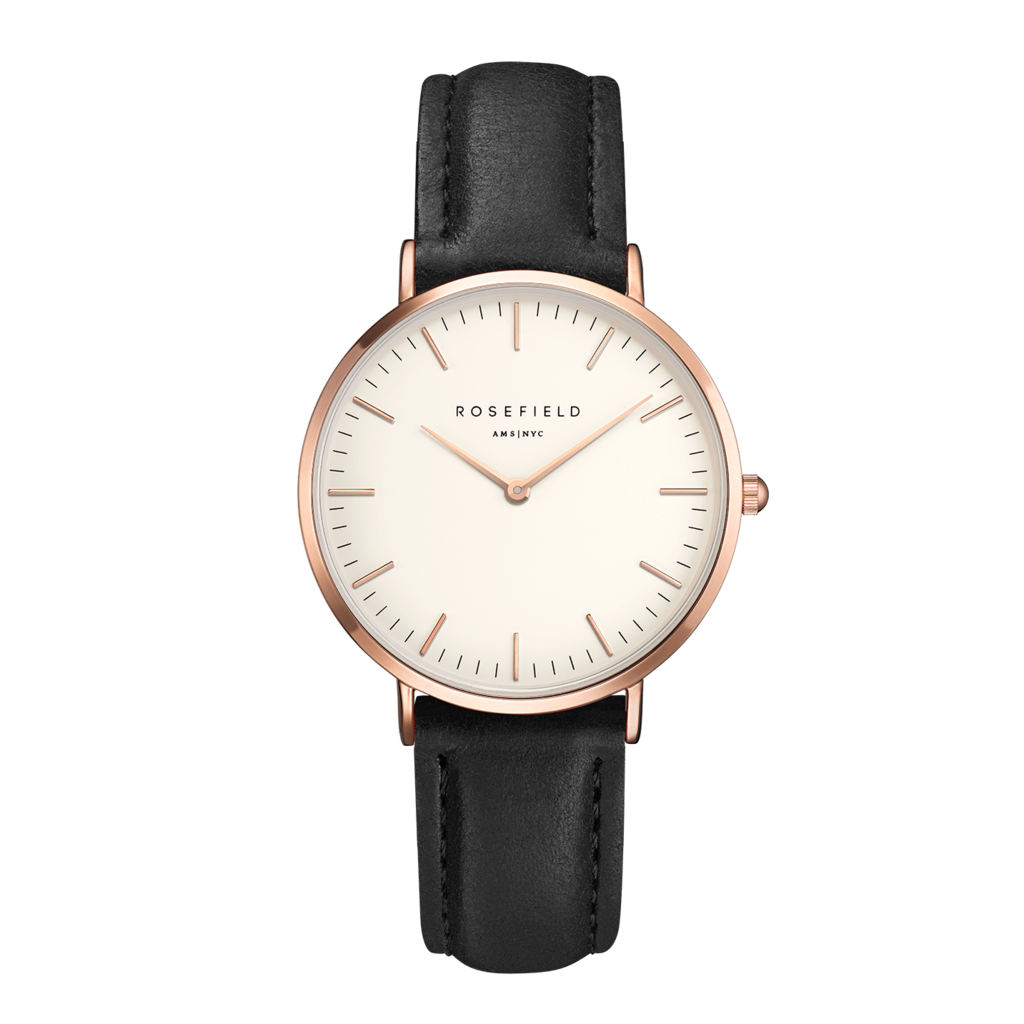 Rosefield Montre Rosefield The Bowery Blanc noir or rose 38mm