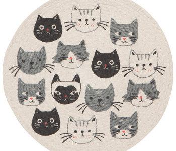 Dessous de plat tressé chats Meow