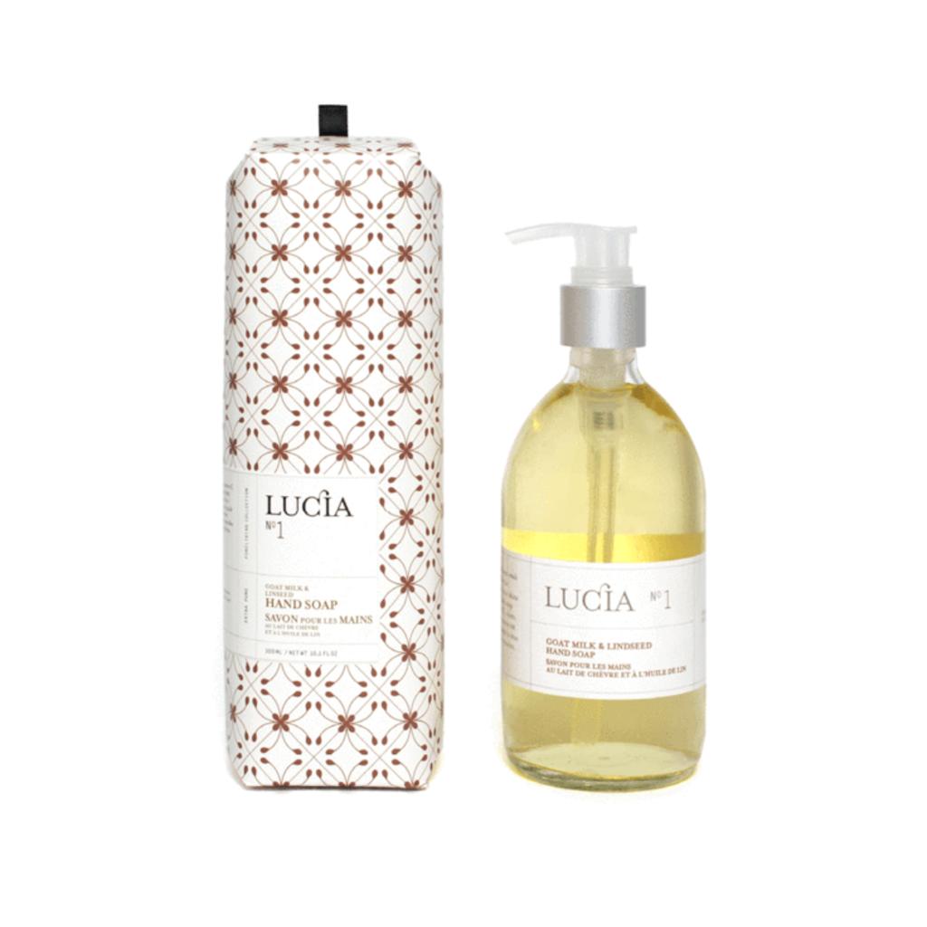 Lucia N°1 Savon pour les mains au lait de chèvre et à l'huile de lin Lucia