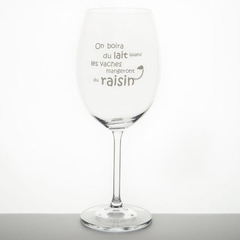 Garçon de Table Verre Garçon de Table On boira du lait...