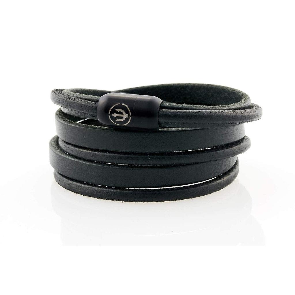 Neptn Bracelet CAPTN TRIDENT BLACK 8 TRIPLE TO