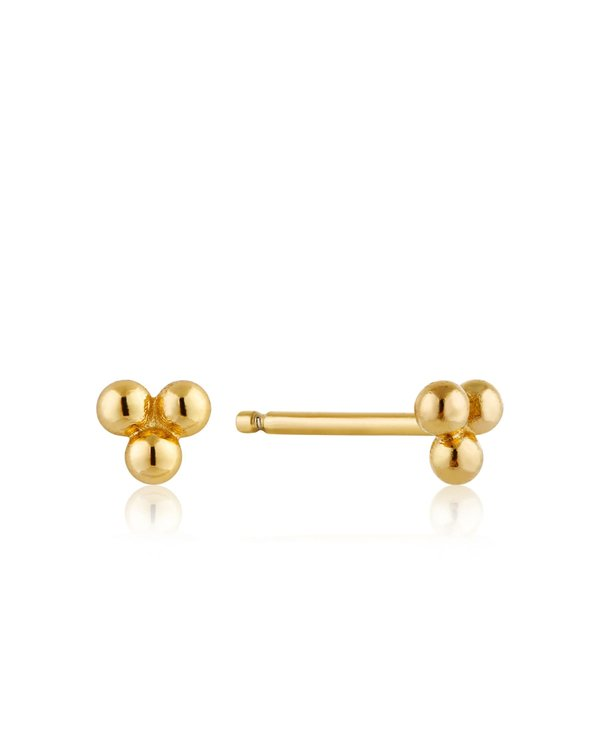 Boucles d'oreilles Ania Haie Modern Triple Ball Gold Stud