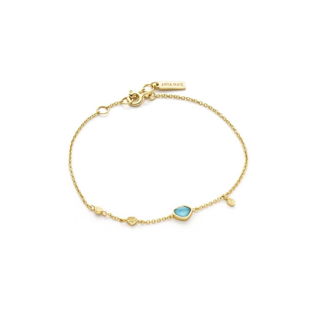Ania Haie Bracelet Ania Haie Turquoise Discs Gold
