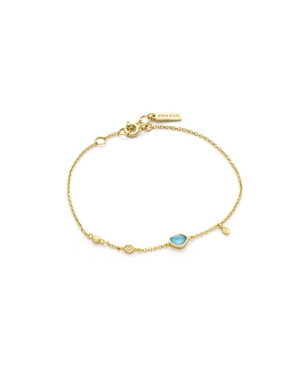 Bracelet Ania Haie Turquoise Discs Gold