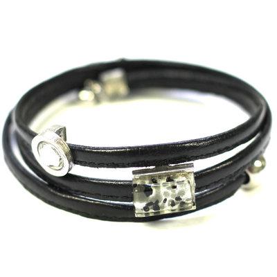 Cré-Art Bracelet Cré-Art Le Twist Noir