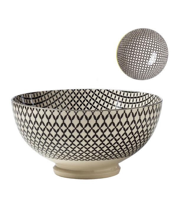 Bol de Porcelaine Kiri 8 Wicker Weave