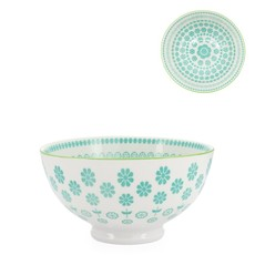 Torre & Tagus Bol en porcelaine Kiri 4.5 Turquoise Daisy