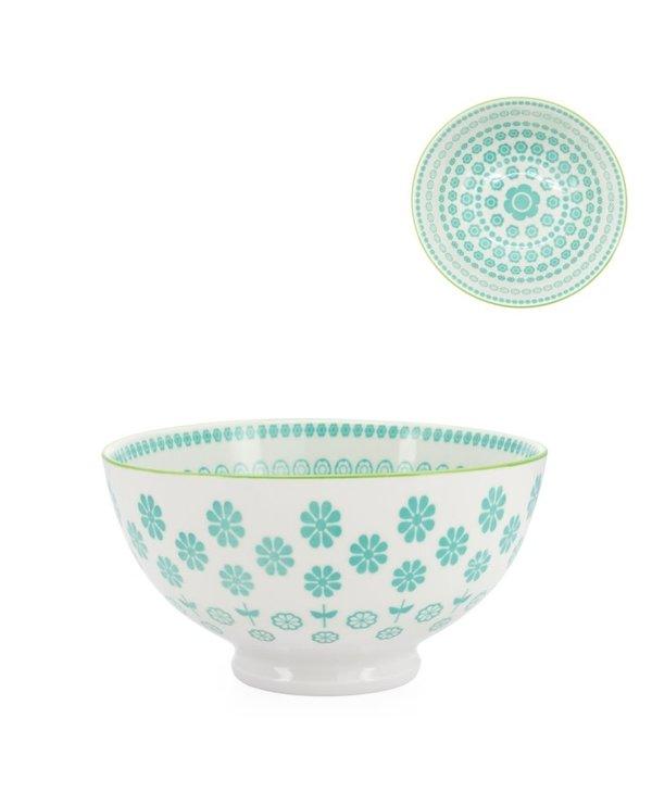 Bol en porcelaine Kiri 4.5 Turquoise Daisy