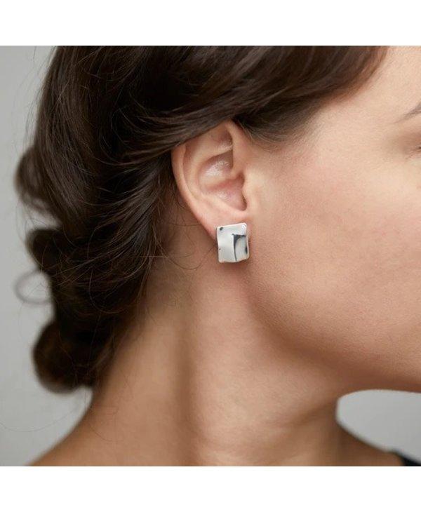 Boucles d'oreilles argentes élément d'eau Pilgrim