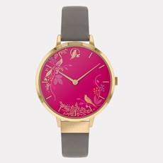 Sara Miller Montre Sara Miller pink birds leather SA2016