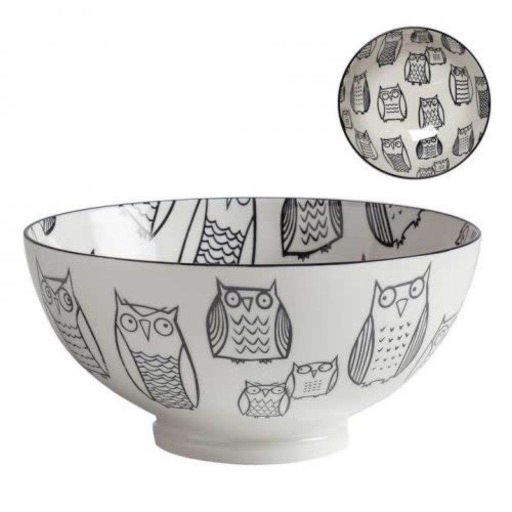 Torre & Tagus Bol de porcelaine kiri owl outline 8''