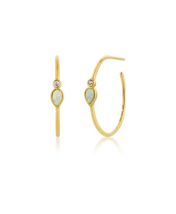 Boucles d'oreilles Ania Haie Opal Colour Raindrop Gold Hoop