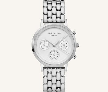 Montre Rosefield N92 The Gabby White Silver