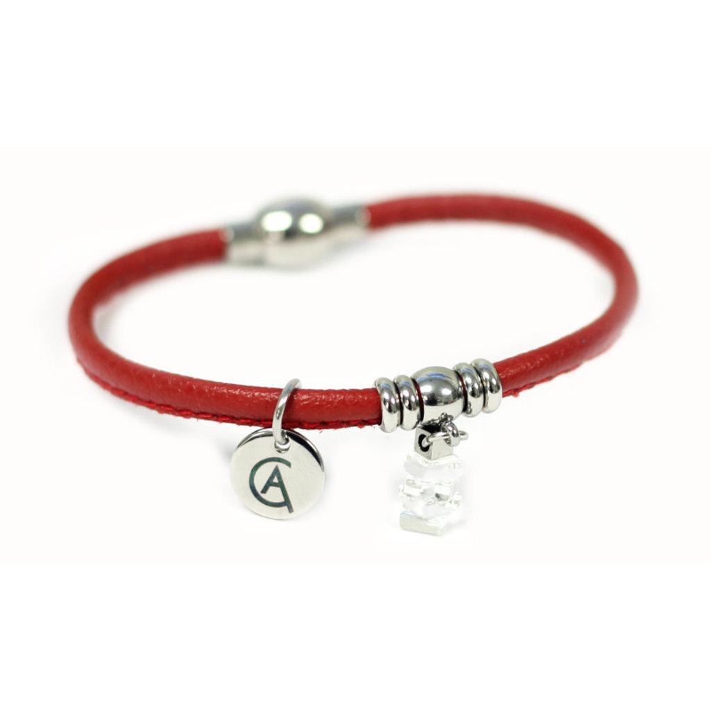 Cré-Art Bracelet Cré-Art Collection Mini Nordique Rouge