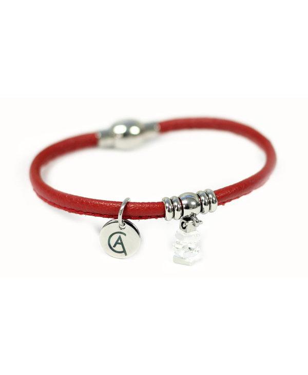 Bracelet Cré-Art Collection Mini Nordique Rouge