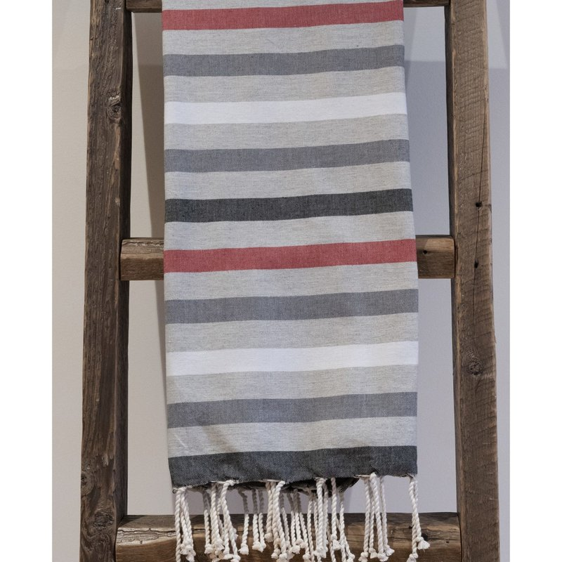 Alliadesign Fouta Nouvelle Zélande rouge alliadesign