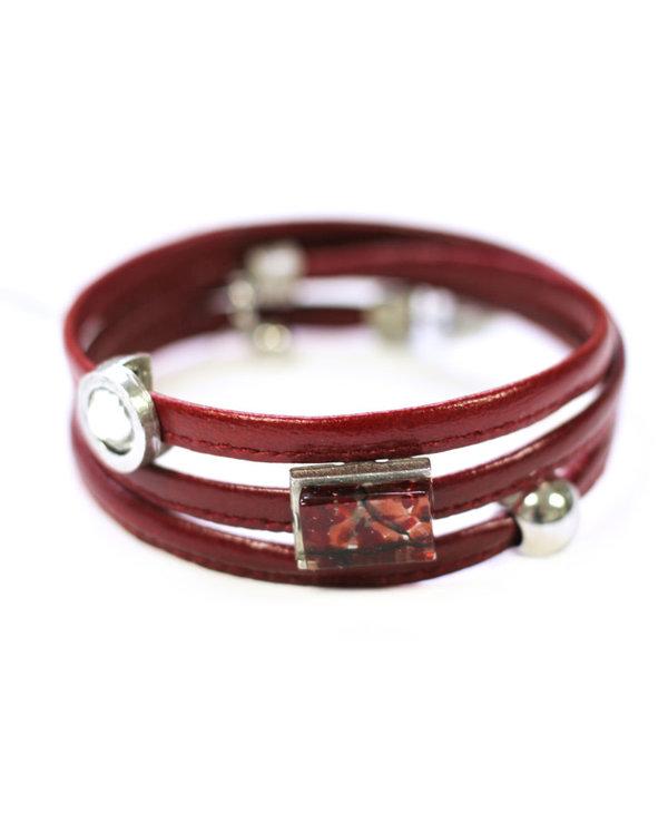 Bracelet Cré-Art Le Twist Rouge