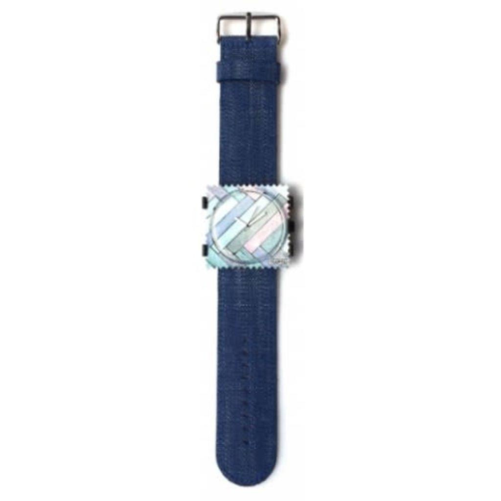 Montre Stamps Bracelet montre Stamps Navy Blue denim